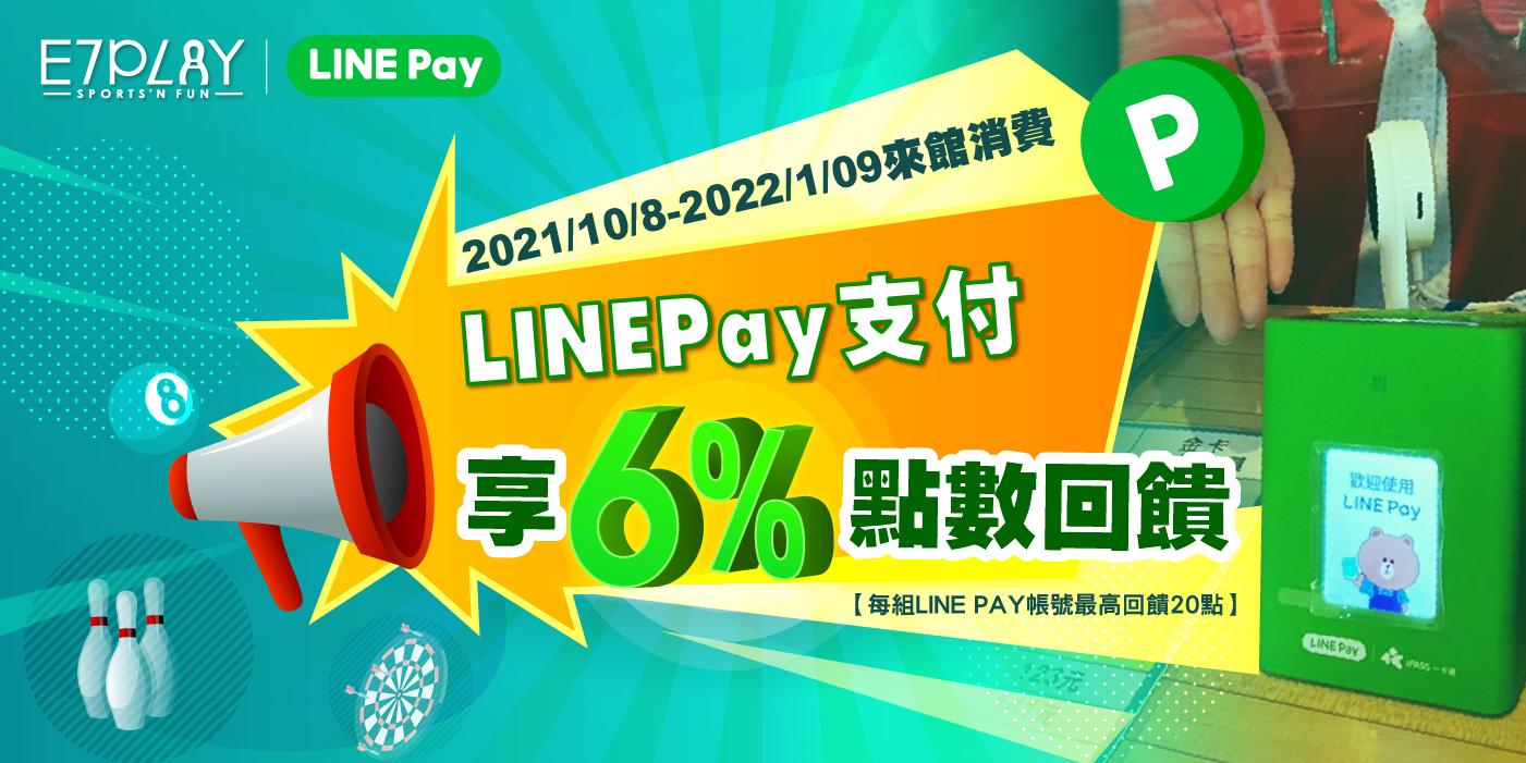 LINE Pay支付享6%點數回饋